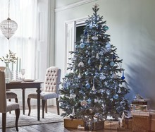 Winter Palace St. Petersburg Blue Christmas Tree,
