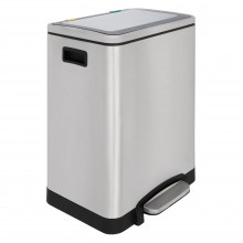 2 Section Soft Close Recycling Pedal Bin 30L