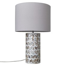 John Lewis Zig Zag Shell Table Lamp