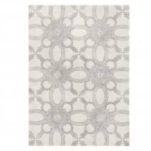 John Lewis - Genevieve Bennett Starflower rug in oyster and mocha