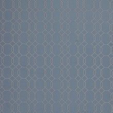 John Lewis - Genevieve Bennett Spot Lattice fabric in indigo