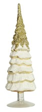 Snowy gold glass tree small