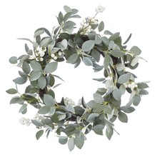 Winter Palace Snowy Eucalyptus Berries Wreath