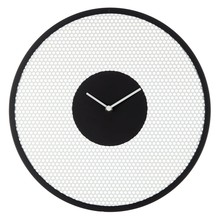 John Lewis Perforated Clock, Dia. 40cm, Black and White