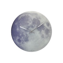 NeXtime Glow in the Dark Moon Analogue Wall Clock, Dia. 30cm