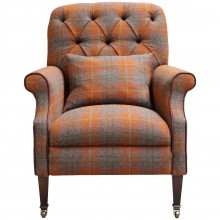 John Lewis Tetrad Harris Tweed Country Armchair, Summer Check