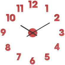 House by John Lewis Numbers Wall Clock, Red