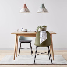 HOUSE Bow folding console table £350, Whistler chair £89, Isla magnetic light £30, track mineral £150