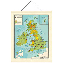 Newgate Map of British Isles canvas banner 190 x 150cm