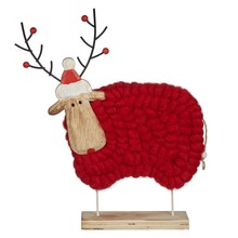 Folklore Reindeer Woolly Sheep Red L £15