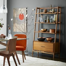 west elm at John Lewis Mid-Century Wide Bookshelf