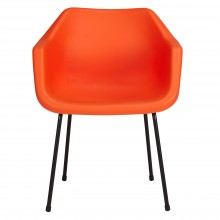 John Lewis Robin Day Polypropylene Armchair, Flame Orange