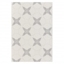 John Lewis - Genevieve Bennett Deco flower neutral wallpaper
