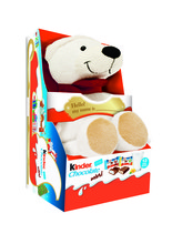 Kinder fluffy polar bear