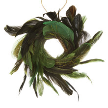 Into the Woods Green Feather Wreath Hanger
