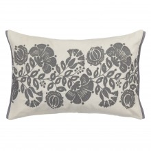 John Lewis - Genevieve Bennett Persian Thistle cushion in steel