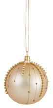Gold stud droplet bauble