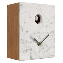 Diamantini & Domeniconi Portobello Marble Cuckoo Clock, 21 x 16cm