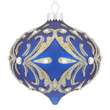 Winter Palace Ornate Royal Blue Onion Bauble