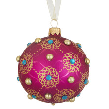 Tales of the Maharaja Floral Gem Trellis Pink Bauble