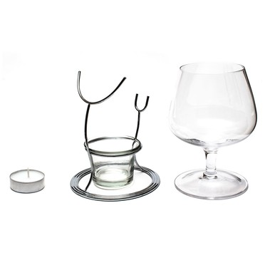 Final Touch Vinology Brandy Glass and Warmer Set