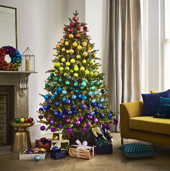Image result for rainbow christmas tree john lewis